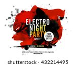 electro night party template ... | Shutterstock .eps vector #432214495