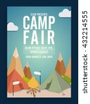 camp fair template  summer camp ... | Shutterstock .eps vector #432214555