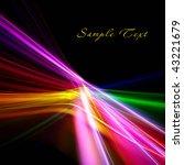 beautiful bright fractal... | Shutterstock . vector #43221679