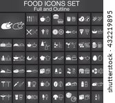 food line and full icons set ...