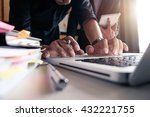 business documents on office... | Shutterstock . vector #432221755