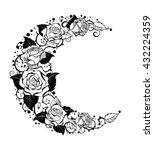 mystical moon painted black... | Shutterstock .eps vector #432224359