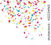 colorful confetti isolated on... | Shutterstock .eps vector #432224965