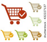 shopping cart with check mark... | Shutterstock .eps vector #432227137