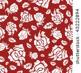 seamless vector floral...   Shutterstock .eps vector #43222894