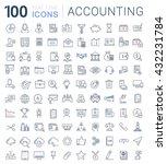 set vector line icons in flat... | Shutterstock .eps vector #432231784