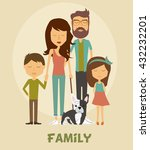 cartoon family | Shutterstock .eps vector #432232201