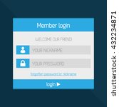 member login interface modern...