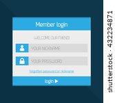 member login interface modern...