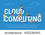 cloud computing concept... | Shutterstock .eps vector #432236341