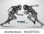 football player silhouette.... | Shutterstock .eps vector #432237331