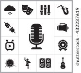 music icons set | Shutterstock .eps vector #432237619