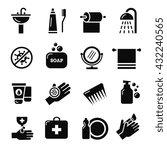 hygiene  bacteria virus... | Shutterstock .eps vector #432240565