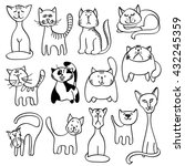 home pets  cute cats in doodle... | Shutterstock .eps vector #432245359