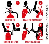 fire extinguisher instruction... | Shutterstock .eps vector #432245371
