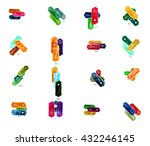 collection of glossy paper... | Shutterstock .eps vector #432246145