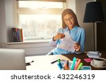 business woman getting ready to ... | Shutterstock . vector #432246319