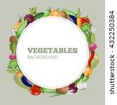 menu with vegetables. vector... | Shutterstock .eps vector #432250384