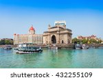 the gateway of india and boats... | Shutterstock . vector #432255109