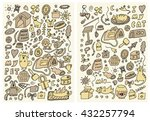 hand drawn double veterinary... | Shutterstock .eps vector #432257794