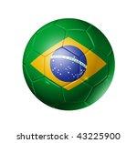 3d soccer ball with brazil flag ... | Shutterstock . vector #43225900