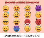 emoticons creative outline flat ... | Shutterstock .eps vector #432259471