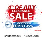 4th of july clearance sale... | Shutterstock .eps vector #432262081