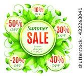 summer sale background...   Shutterstock . vector #432263041