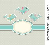 colorful vintage template for... | Shutterstock .eps vector #432264244
