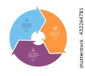 circular infographic. pie chart ... | Shutterstock .eps vector #432264781