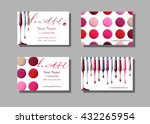 makeup artist business card.... | Shutterstock .eps vector #432265954