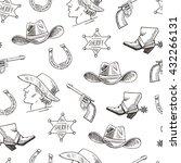 western hand draw sketch vector ... | Shutterstock .eps vector #432266131