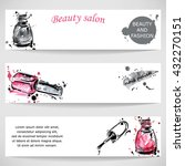 vector abstract banner with... | Shutterstock .eps vector #432270151