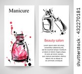 vector abstract banner with... | Shutterstock .eps vector #432270181