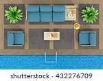 top view of pallet sofa and... | Shutterstock . vector #432276709