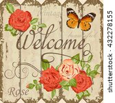 vintage welcome floral template | Shutterstock .eps vector #432278155