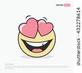 cute feeling in love emoticon... | Shutterstock .eps vector #432278614