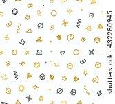 geometric shapes seamless... | Shutterstock .eps vector #432280945
