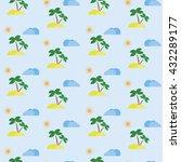 seamless summer texture.... | Shutterstock .eps vector #432289177