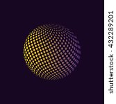 abstract colorful halftone... | Shutterstock .eps vector #432289201