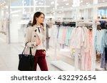 Beautiful Woman Shopping Trendy ...