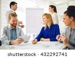 businesspeople and architects... | Shutterstock . vector #432292741