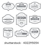 frame classic template. vintage ... | Shutterstock .eps vector #432295054
