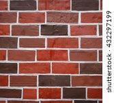 Sqare Background Old Brick Wal...