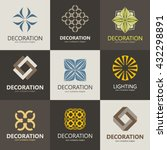 a collection of logos for... | Shutterstock .eps vector #432298891