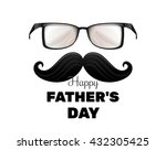 happy fathers day. vintage... | Shutterstock .eps vector #432305425