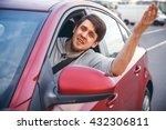 the young man driving the car... | Shutterstock . vector #432306811