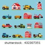 farm orthogonal flat icons set... | Shutterstock .eps vector #432307351
