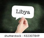 libya concept in a speech bubble   Shutterstock . vector #432307849