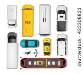 city transport top view icons...